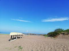直江津です。 日本海です。 おだやかで澄んだ水。