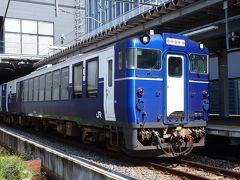 ただ移動するだけというのも惜しいので、今回は観光列車に乗って旅する事にいたしました。 まずは上越妙高駅から出ている《越乃Shu*Kura》で長岡へ向かいます