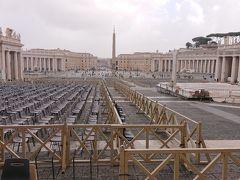 サン・ピエトロ大聖堂の側から サン・ピエトロ広場を見た景色です~