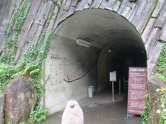 こちらが清津峡トンネルの入り口です。  ゴエモン「わくわくするね。」  入り口で検温チェックを受け、手を消毒し料金を支払って入抗。 なお坑内には簡易トイレはありますが、バリアフリーではないので、身障者の方等と一緒に入坑する場合は先にお手洗いをすませておきましょう。