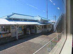 往路に乗り込んだ浜金谷駅。 東京湾フェリー金谷港へは徒歩7~8分ほど