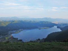 パラグライダーには挑戦しませんが、 木崎湖一望!  とても綺麗な景色でした。