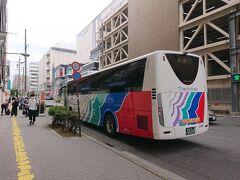 松本バスセンターに到着~。およそ3時間半かけてほぼ定刻(10時35分頃)の到着でした。松本駅の目の前です。