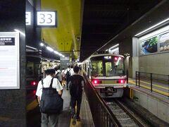 向かったのは、山陰本線(嵯峨野線)のホーム。 1番線の大阪寄りにある、ある意味頭端式のホーム。