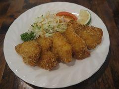 最後の夜はホテル近くのボニーナで夕食にしました。 白身魚のフライ。 ビールによく合う。