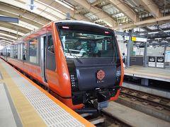 <新潟駅> 新幹線から在来線に乗り換え 大きく「海里」の表示、絶対わかる!そして宣伝している!