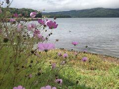 最後の訪問地は阿寒湖です。 この時間になりようやく雨はほぼ上がりました。