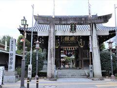バスは呉服町で都市高速を降ります 櫛田神社に立ち寄りました