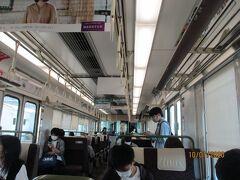 岡山駅からは、快速マリンライナーで移動し、児島駅で降ります。