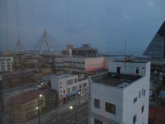 早朝から見る、ホテルからの光景です