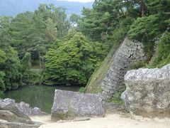 伊賀上野城、圧巻の高石垣