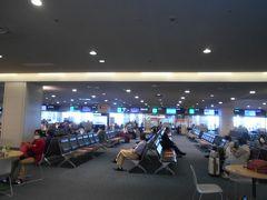 添乗員さんから航空券を頂いた私たちは 問題なくセキュリティを通り抜けて 待合室へやってきました。 海外旅行と比べて緊張感はあまりありません。 パスポートを持っていない国内旅行は安心感をもって 出発できます。 待合室の乗客は大半が観光客です。 これもGo Toトラベルキャンペーンの お陰かもしれません。  私たちに同行した添乗員さんは10日(土) からお休みなしでまた同じコースのお世話を するそうです。 旅行業界もようやく忙しくなって来ました