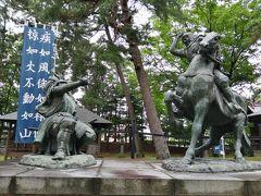 一騎打ちをする、武田信玄と上杉謙信。 風林火山って聞いたことあるよ程度の私はあまり興味ないけど、夫は熱心に見ていました。