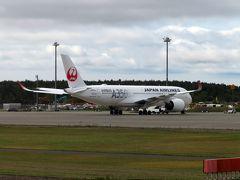 新千歳空港R/W01Rに着陸。 訓練中のA350も。