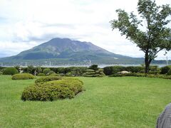 仙巌園からも桜島が良く見える