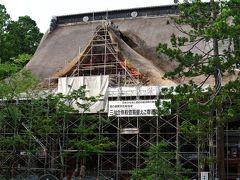 羽黒山山頂の「出羽三山神社・三神合祭殿」とやらは外側工事中。