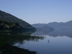 07:10、出発前に田沢湖にお別れ。