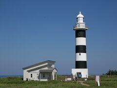 白黒に塗られた入道崎灯台。ここは一般公開されていました。
