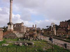 フォロ・ロマーノはかつて広場や政治機関や神殿 などが聖なる道を中心に築かれていたそうです。