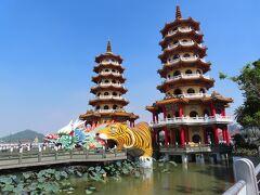 龍虎塔  蓮池潭の一番観光スポット、多くの観光客が訪れるところですが、観光客はまばらでした