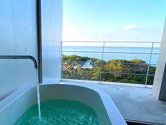 トレッキングを終えて まだ明るい時間にホテルに戻って来れました。  お部屋のお風呂は、写真映えだけのお風呂ではなかったです! すっごく気持ちよくて 疲れた身体をしっかりと癒してくれました!