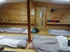 先月より少し早い約3時間半で双六小屋に到着。この先の小屋は既に営業終了しているので、今回は初めて双六小屋に泊りました。