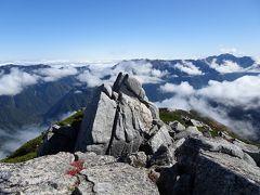 登山道は山頂を通っていませんが、日本百高山でもあるので寄り道して登頂しておきました。