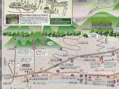 会津東山温泉案内図