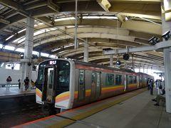 午後3時54分、 新潟駅にもどってきたヨ。