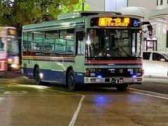守山から堅田迄琵琶湖大橋経由で運行されている〝エコバス〟。近江鉄道バスと江若交通バスの共同運行だ。