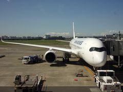 旅のメインの一つでもあるJALの最新機材A350に乗り、九州の福岡へ。