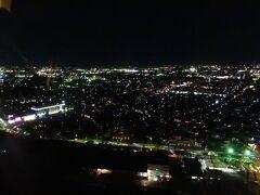 この後、朱鷺メッセ内にある「Befcoばかうけ展望室」で、 新潟の街の夜景を楽しむことにしたヨ♪