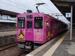電車は、9時47分に松江を離れ、宍道湖の北岸に沿って走って行く。 曇り空で景色は今一つだったが、広い宍道湖の眺めはなかなか良い。 そして、40分足らずで雲州平田駅に到着した。