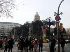 バルセロナのヘソと言われるカタルーニャ広場につきました。 ここでゴシック地区は終わります。