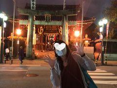 食後は歩いて櫛田神社参拝