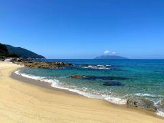 永田いなか浜に来ました。  ウミガメが産卵するビーチだそうです。