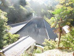 香積寺を飯盛山からの帰りに裏側を眺めた様子