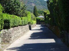 趣のある武家屋敷通り(江戸時代中期、薩摩藩の「外城制度」により形成された武士の集落跡です。他にも入来・出水等に武家屋敷群があります。)
