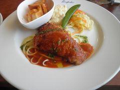 メインの料理です。鰆の香草パン粉焼。これにライスがついて880円でした。  これにて旅行記は終了、大牟田の街を後にしたのでした。