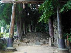 次は神魂(かもす)神社へ 杉の大木で覆われていて古い神社です。