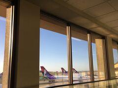 ホノルル空港到着。