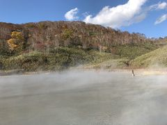 雪秩父の大湯沼に到着。  マスク越しでも鼻につく強烈な硫黄のにおい。