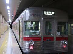 長野駅から長野電鉄 座り心地がローカルな信州中野行きに乗って出発
