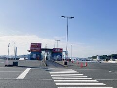 @宇野港 ※8:40発はここではなく、左のほうにあるところから出航でした。