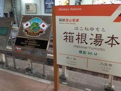 まずは今回の旅行のためだけに、秘密の独自ルート(?)を使って仕入れた株主優待の切符を使って、小田急線で箱根湯本駅へ。 時間はとてつもなくかかるけど、普通に買う場合の半額とかなり安く移動できるのだ。