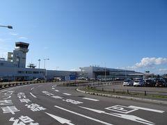 定刻に函館空港に到着。予報どおりの晴れ!