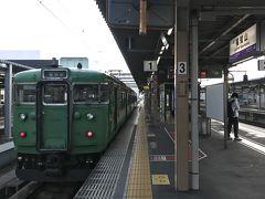 福知山から東舞鶴行二両編成 グリーントレインに乗り換え
