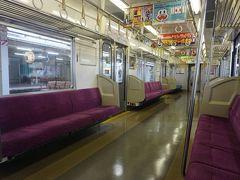 ●芝山鉄道 芝山千代田駅行電車@京成成田駅  少し時間があるので、芝山方面に行ってみようと思います。 京成成田駅から乗り込んだ電車。 ほとんど人は乗っていません。