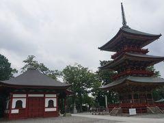 ●新勝寺  公園から新勝寺境内に入ってきました。 右に三重塔です。 1712年に建立された重要文化財です。 高さは、25mあります。