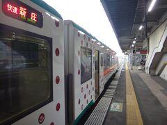 10時3分、古川。ここで11分の停車。 みのり時代からだが、交換列車も無いのでおそらく新幹線の接続待ちか? 下りは9時50分発、上りは10時6分発のはやぶさがある。
